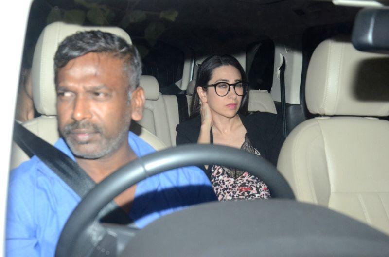 "Actress Karisma Kapoor at the special screening of upcoming film ""Dhadak"" in Mumbai on July 18, 2018. - Karisma Kapoor"