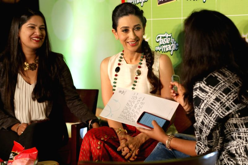 Actress Karisma Kapoor during a programme in in New Delhi, on Dec 2, 2015.