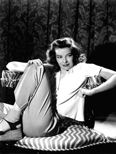 Actress Katharine Hepburn, who preferred wearing trousers much before they became accepted fashion for women, in her favourite costume - Katharine Hepburn
