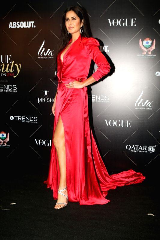 "Actress Katrina Kaif at the red carpet of ""Vogue Beauty Awards"" in Mumbai on July 31, 2018. - Katrina Kaif"