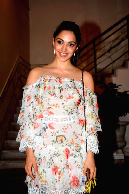 "Actress Kiara Advani at the pre-release party of upcoming film ""Karwaan"" in Mumbai on July 26, 2018. - Kiara Advani"