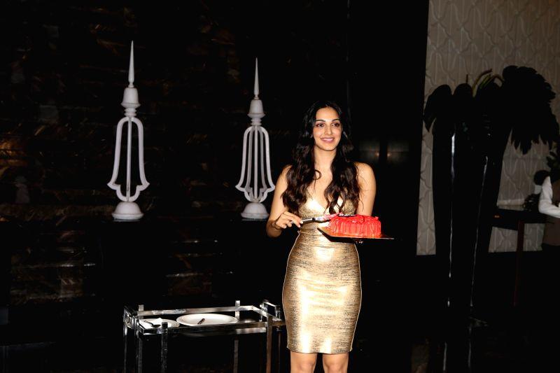 Actress Kiara Advani during her birthday celebration in Mumbai on July 30, 2018. - Kiara Advani