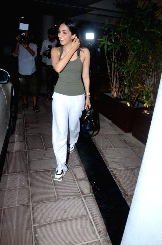 Actress Kiara Advani seen at fashion designer Manish Malhotra's residence in Mumbai on July 12, 2018. - Kiara Advani and Manish Malhotra