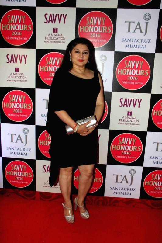 Actress Kiran Sippy during the SAVVY Honours Award for Women Entrepreneur in Mumbai on July 24, 2016. - Kiran Sippy