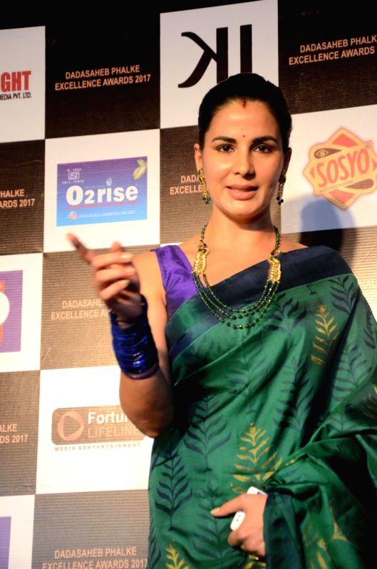 Actress Kirti Kulhari at the Dadasaheb Phalke award function in Mumbai on April 21, 2017. - Kirti Kulhari