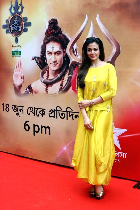 "Actress Koel Mallick at the launch of upcoming mythological show ""Om Namah Shivay"" in Kolkata, on June 14, 2018. - Koel Mallick"