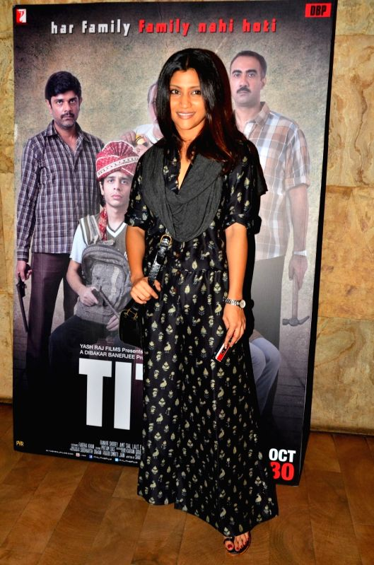 Actress Konkona Sen Sharma during the screening of film Titly in Mumbai on Oct 29, 2015. - Konkona Sen Sharma