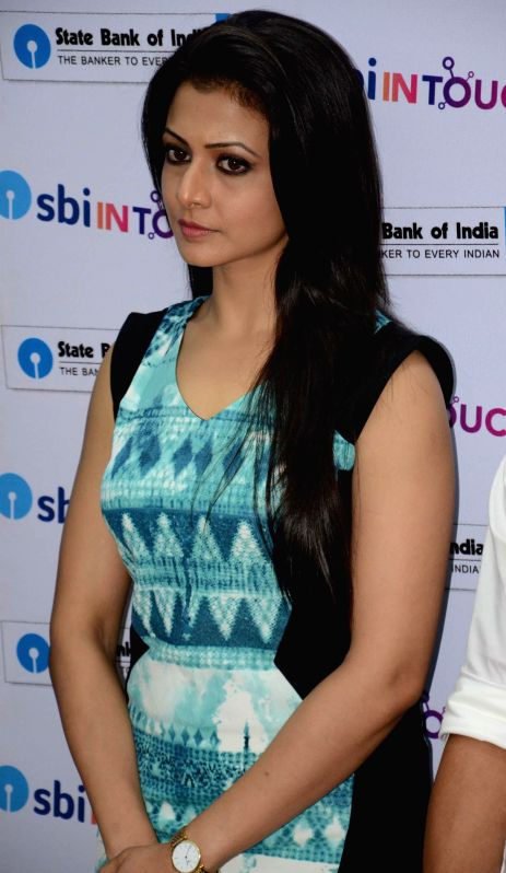 Actress Koyal Mullick during the launch of a new branch of State Bank of India in Kolkata on August 2, 2014.
