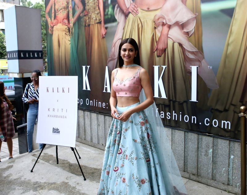 Actress Kriti Kharbanda at the launch of bridal collection of a fashion store in Mumbai on Aug 11, 2018. - Kriti Kharbanda