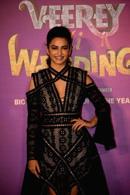"Actress Kriti Kharbanda at the trailer launch of her upcoming film ""Veerey Ki Weeding"" in Mumbai on Feb 1, 2018. - Kriti Kharbanda"