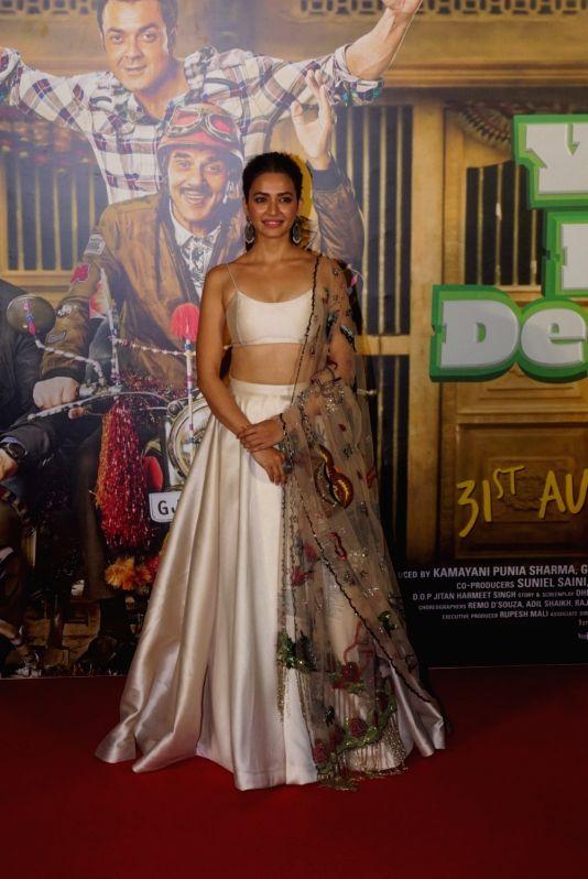 "Actress Kriti Kharbanda at the trailer launch of her upcoming film ""Yamla Pagla Deewana Phir Se"" in Mumbai on Aug 10, 2018. - Kriti Kharbanda"
