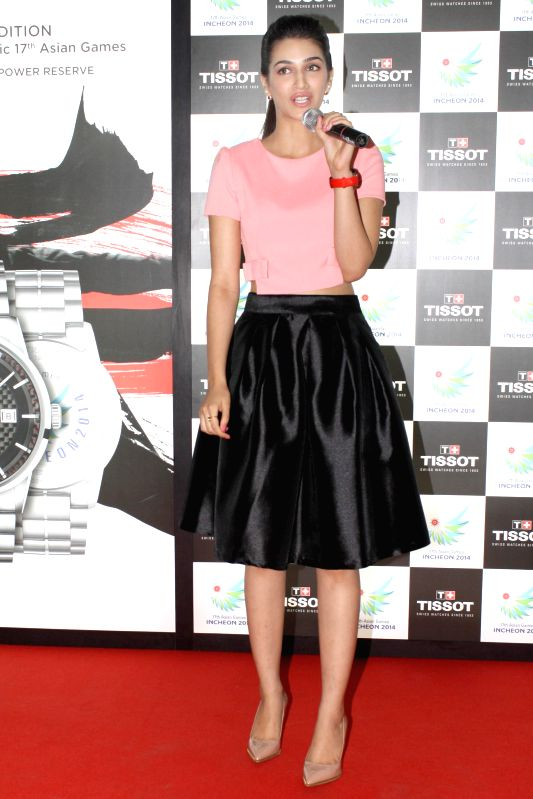 Actress Kriti Sanon at the launch of the` Tissot's Asian Games Collection, 2014 ` in New Delhi on Aug 21, 2014. - Kriti Sanon