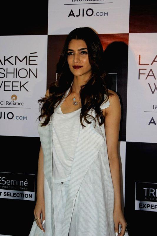 Actress Kriti Sanon during  Lakme Fashion Week model audition in Mumbai, on June 13, 2017. - Kriti Sanon
