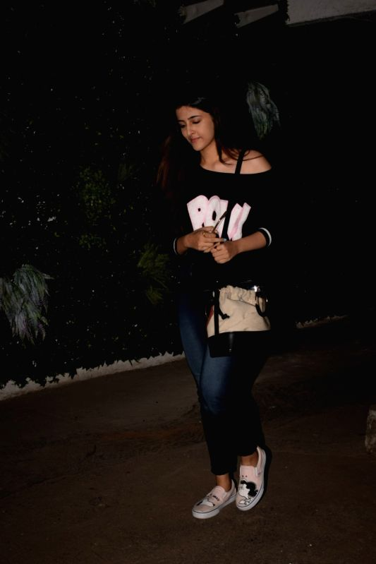 Actress Kriti Sanon's sister Nupur Sanon seen at Cromekay in Mumbai on Jan 31, 2018. - Kriti Sano