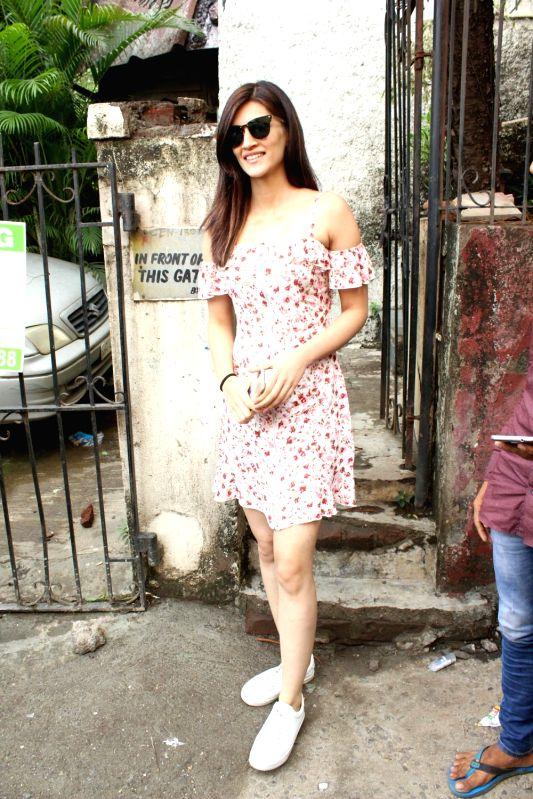 Actress Kriti Sanon seen at Mumbai's Bandra on June 10, 2018. - Kriti Sanon