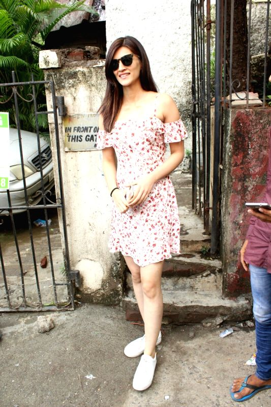 Actress Kriti Sanon seen at Mumbai's Bandra on June 10, 2018. - Kriti Sanon