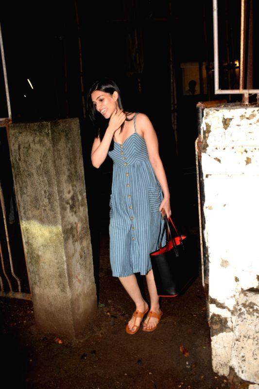 Actress Kriti Sanon seen at Mumbai's Juhu on June 7, 2018. - Kriti Sanon