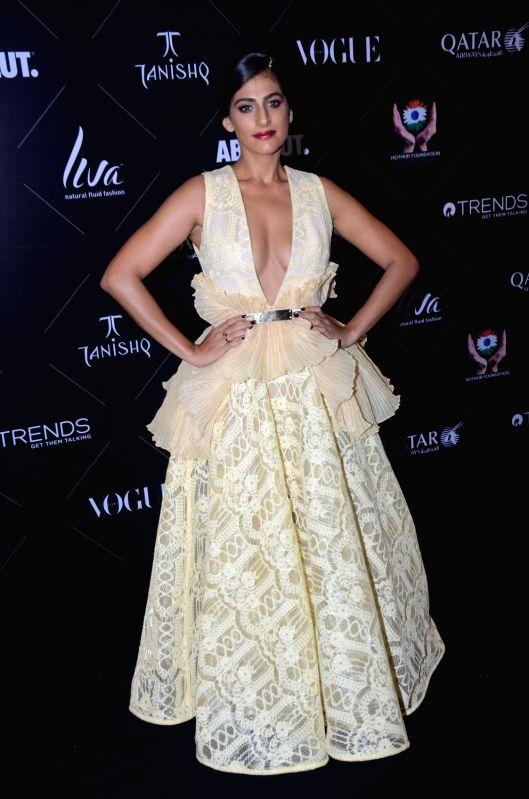 "Actress Kubbra Sait at the red carpet of ""Vogue Beauty Awards"" in Mumbai on July 31, 2018. - Kubbra Sait"