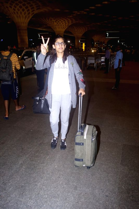 Actress Kubra sait seen at Chhatrapati Shivaji International Airport in Mumbai on July 11, 2018. - Kubra