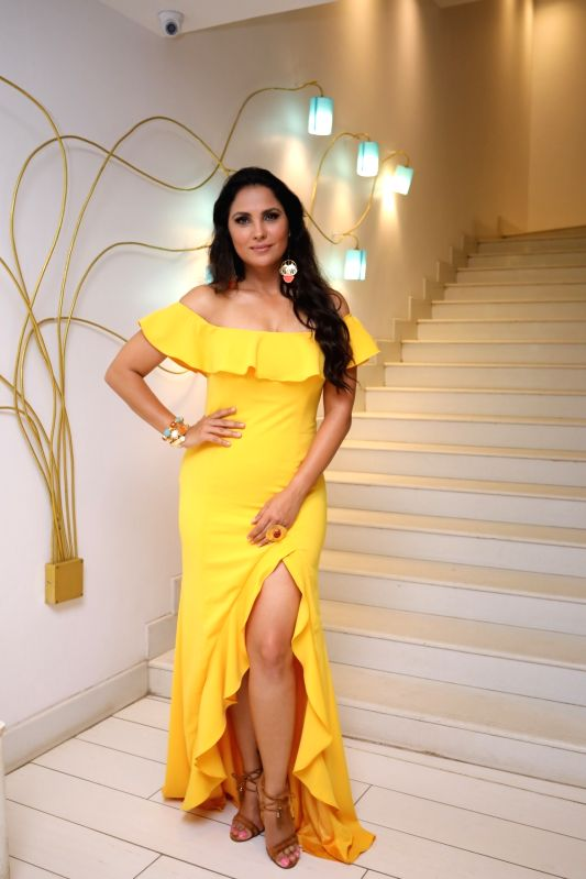 Actress Lara Dutta Bhupathi at the red carpet for Miss Diva sub contest in Goa. - Lara Dutta Bhupathi