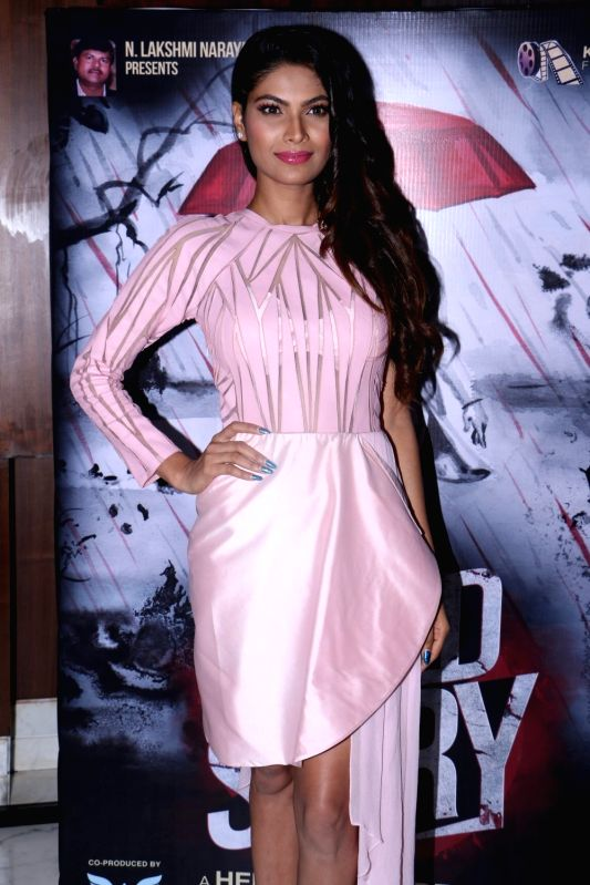 Actress Lopamudra Raut during the poster launch of her upcoming film 'Blood Story' in Mumbai on July 18, 2018. - Lopamudra Raut