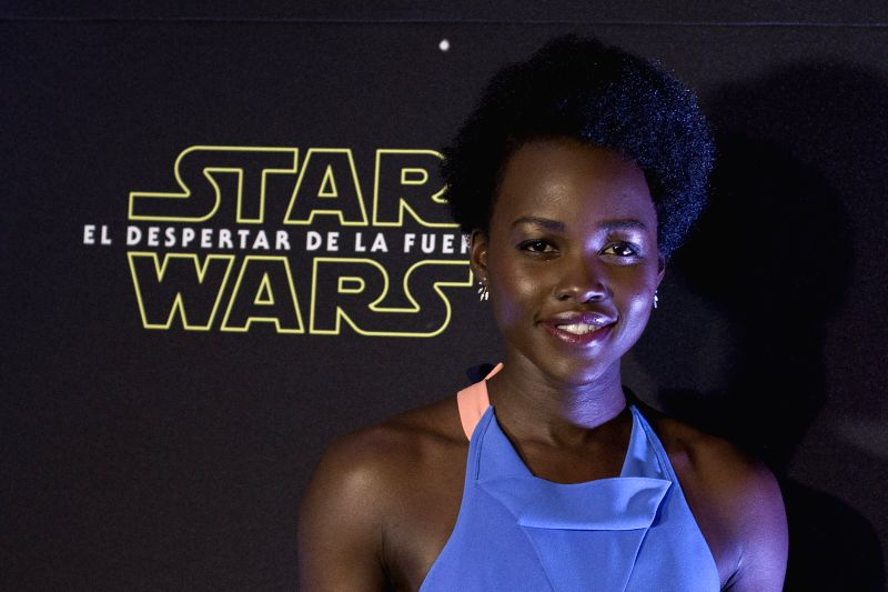 "Actress Lupita Nyong'o poses during an event to promote the new Star Wars movie ""The Force Awakens"", in Mexico City, capital of Mexico, on Dec. 8, ... - Lupita Nyong"
