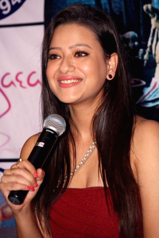 Actress Madalasa Sharma during a press conference to promote her upcoming film 'Samrat & Co' in New Delhi on April 22, 2014. - Madalasa Sharma