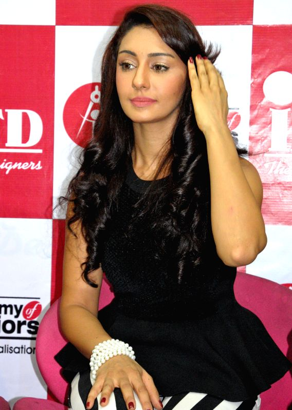 Actress Mahek Chahal during launch of a fashion designing institute in Amritsar on May 18, 2014.
