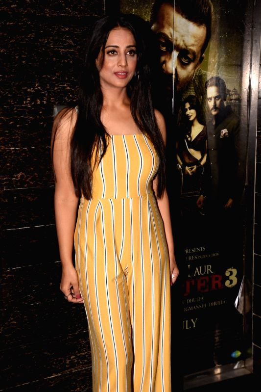 "Actress Mahie Gill at the special screening of her film ""Saheb Biwi Aur Gangster 3"" in Mumbai on July 26, 2018. - Mahie Gill"