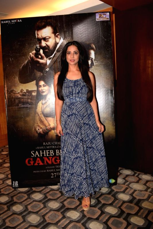 """Actress Mahie Gill during a media interaction of her film """"Saheb Biwi Aur Gangster 3"""" in Mumbai on July 27, 2018. - Mahie Gill"""