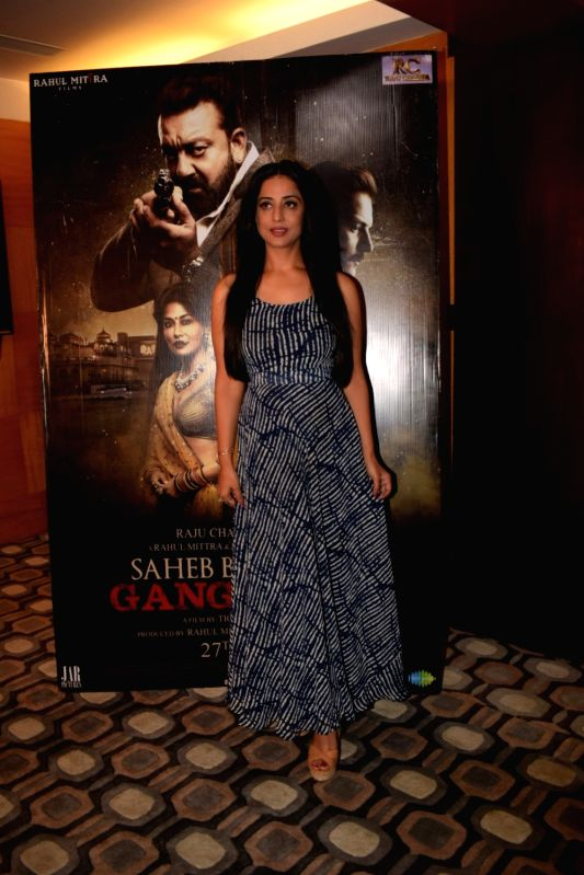 "Actress Mahie Gill during a media interaction of her film ""Saheb Biwi Aur Gangster 3"" in Mumbai on July 27, 2018. - Mahie Gill"