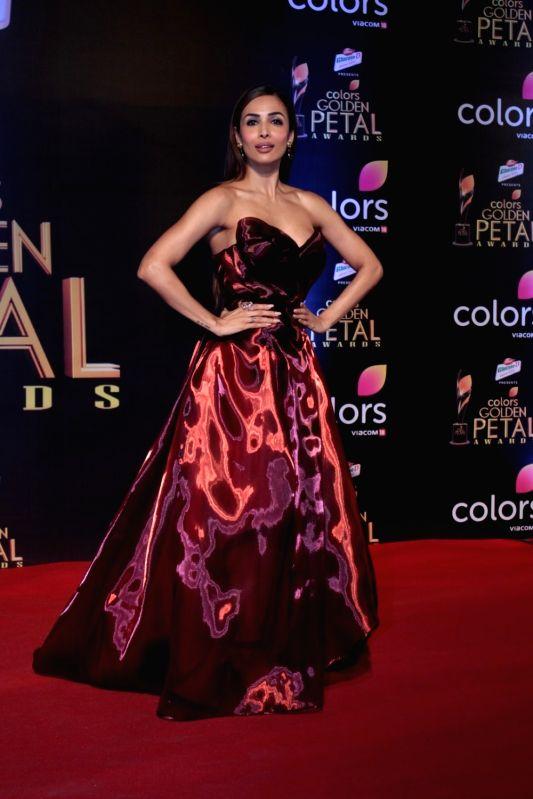 Actress Malaika Arora during the 5th Colors Golden Petal Awards in Mumbai on April 12, 2017. - Malaika Arora