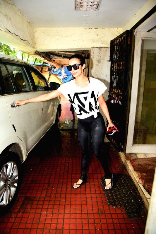 Actress Malaika Arora seen at a gym in Bandra, Mumbai on July 16, 2018. - Malaika Arora