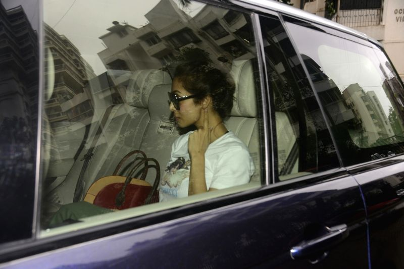 Actress Malaika Arora seen at filmmaker Karan Johar's residence in Mumbai on July 22, 2018. - Malaika Arora