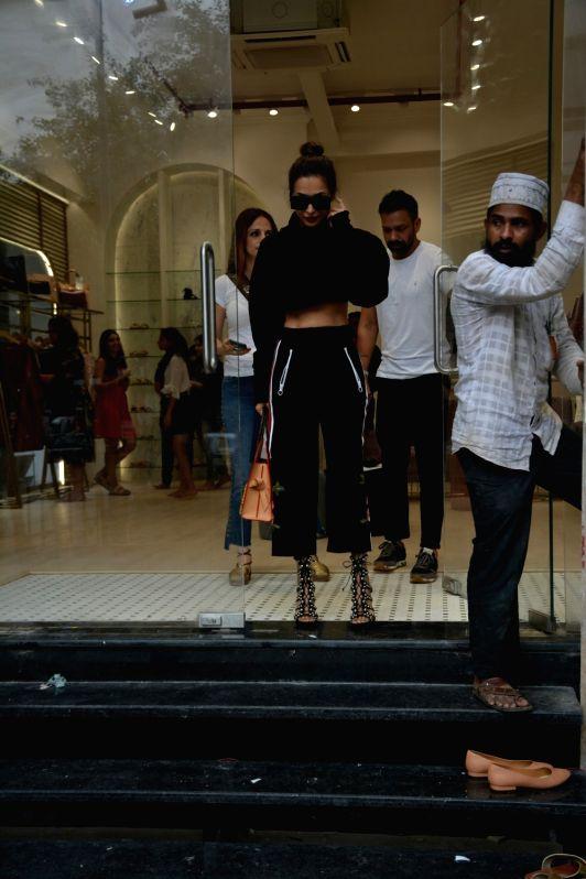Actress Malaika Arora seen at Mumbai's Bandra on July 31, 2018. - Malaika Arora
