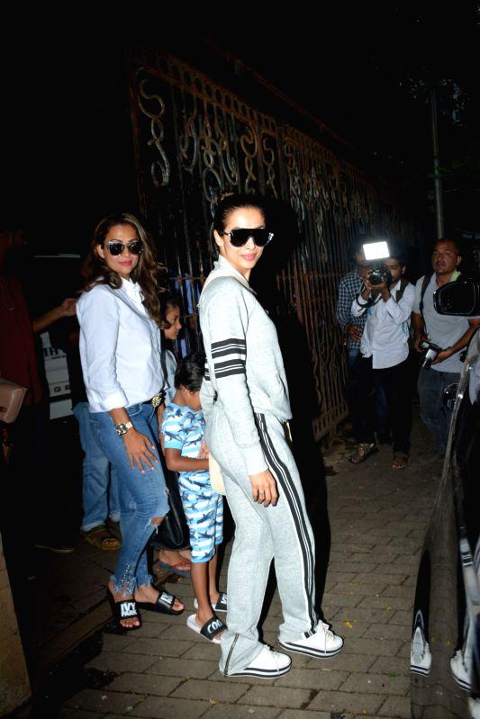 Actress Malaika Arora seen at Mumbai's Bandra on Aug 6, 2018. - Malaika Arora