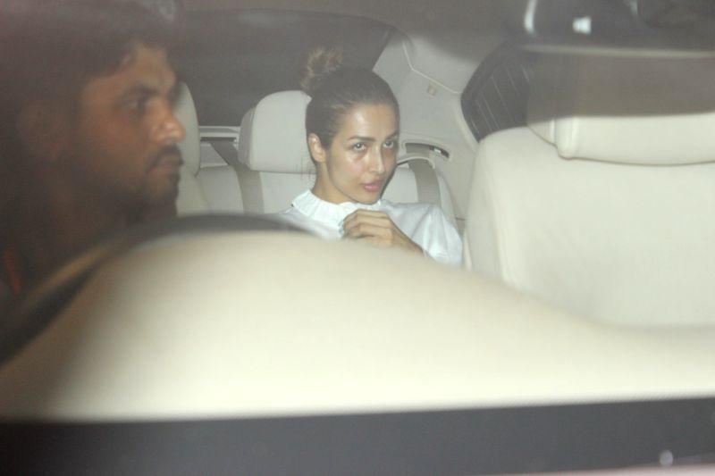 Actress Malaika Arora spotted at Karan Johar home in Mumbai on May 28, 2017. - Malaika Arora and Karan Johar