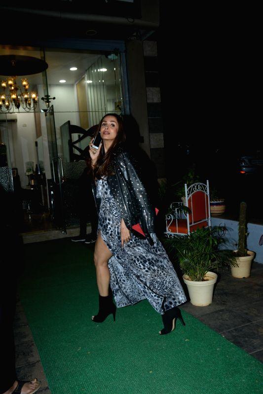 Actress Malaika Arora spotted at Muah Salon in Bandra in Mumbai on Feb 9, 2019. - Malaika Arora