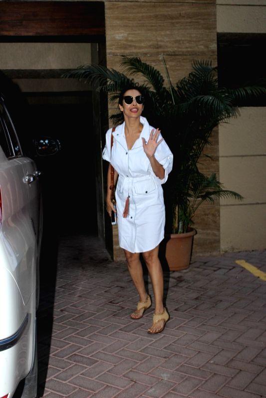 Actress Malaika Arora were spotted at the Bandra on June 10, 2017. - Malaika Arora