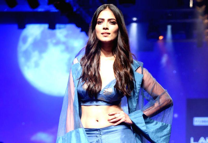 Actress Malavika Mohanan at Lakme Fashion Week winter/festive 2019