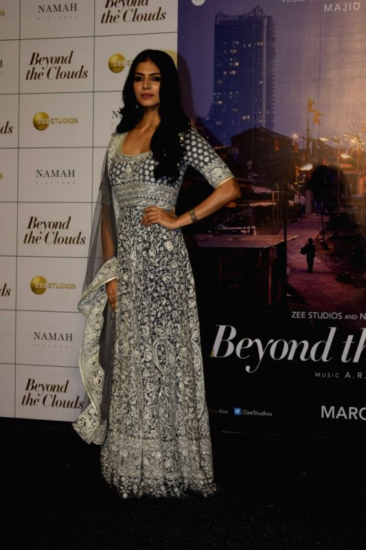 "Actress Malavika Mohanan at the trailer launch of her upcoming film ""Beyond the Clouds"" in Mumbai on Jan 29, 2018. - Malavika Mohanan"