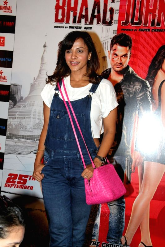 Actress Manasi Scott during the trailer launch of film `Bhaag Johnny` in Mumbai on Aug 12, 2015.
