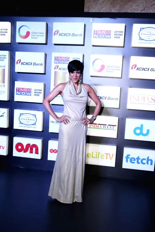 Actress Mandira Bedi at the NRI of the Year Awards 2018 in Mumbai on July 11, 2018. - Mandira Bedi