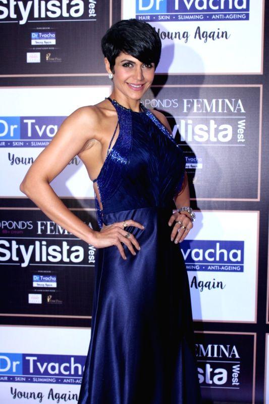 Actress Mandira Bedi during Ponds BB+ Femina Stylista West programme in Mumbai on Sept 29, 2017. - Mandira Bedi