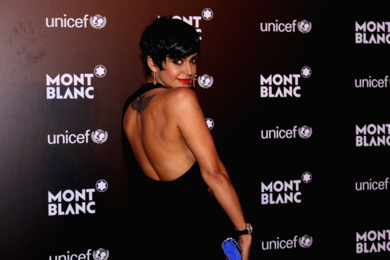 Actress Mandira Bedi during the Montblanc UNICEF event in Mumbai on May 2, 2017. - Mandira Bedi