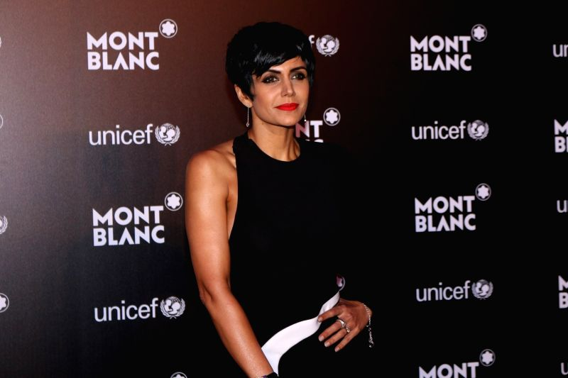 Actress Mandira Bedi during the Montblanc UNICEF event in Mumbai on May 2, 2017. - Mandira Bedi