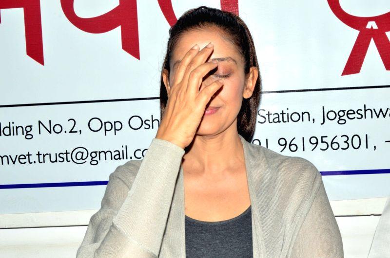 Actress Manisha Koirala during a press conference in Mumbai on March 25, 2017. - Manisha Koirala