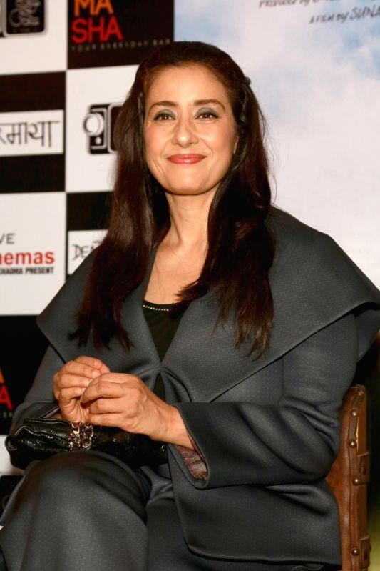 "Actress Manisha Koirala during a programme organised to promote her upcoming film ""Dear Maya"" in New Delhi, on May 30, 2017. - Manisha Koirala"