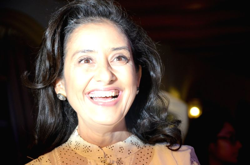 Actress Manisha Koirala during  'My Hair for Cancer' - a programme organised in Mumbai on April 18, 2017. - Manisha Koirala