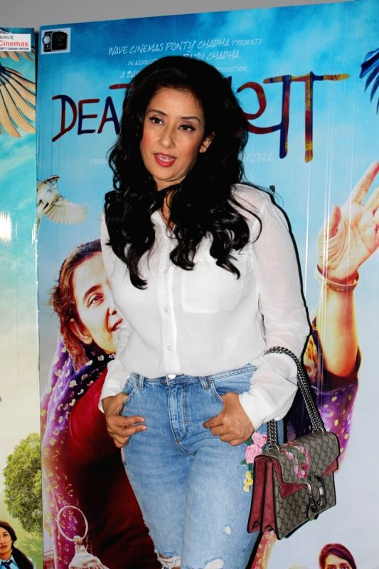 Actress Manisha Koirala during the interview for film Dear Maya in Mumbai on May 27, 2017. - Manisha Koirala